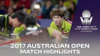 【Video】JANG Woojin・PARK Ganghyeon VS CHEN Chien-An・Chiang Hung-Chieh, chung kết 2017 Seamaster 2017 Platinum, Australian Open