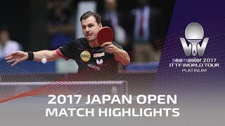 【Video】LIN Gaoyuan VS BOLL Timo, vòng 32 2017 Seamaster 2017 Platinum, LION Japan Open
