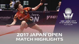【Video】TONIN Ryuzaki VS LIM Jonghoon, chung kết 2017 Seamaster 2017 Platinum, LION Japan Open