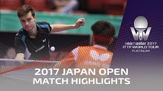 【Video】HACHARD Antoine VS QIU Dang, vòng 128 2017 Seamaster 2017 Platinum, LION Japan Open