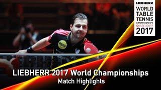【Video】BOLL Timo VS MA Long, tứ kết LIEBHERR 2017 Giải vô địch Bóng bàn Thế giới