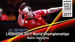 【Video】OVTCHAROV Dimitrij VS DRINKHALL Paul, vòng 64 LIEBHERR 2017 Giải vô địch Bóng bàn Thế giới