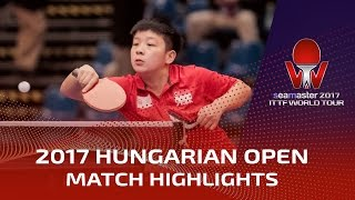 【Video】ZENG Jian VS LIN Ye, chung kết 2017 Seamaster 2017 Hungary mở