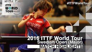 【Video】CHOI Hyojoo VS SAKURA Mori, chung kết 2016 Thụy Điển mở