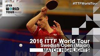 【Video】APOLONIA Tiago VS Chiang Hung-Chieh, vòng 64 2016 Thụy Điển mở