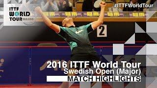 【Video】ZHOU Yu VS HACHARD Antoine, vòng 64 2016 Thụy Điển mở