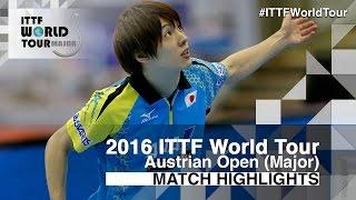 【Video】CALDERANO Hugo VS KENTA Matsudaira, chung kết 2016 Hybiome Austrian Open