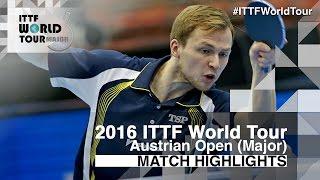 【Video】DUDA Benedikt VS KENTA Matsudaira, bán kết 2016 Hybiome Austrian Open