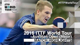 【Video】WALTHER Ricardo VS KENTA Matsudaira, tứ kết 2016 Hybiome Austrian Open