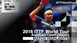 【Video】ACHANTA Sharath Kamal VS CHEN Chien-An, vòng 16 2016 Hybiome Austrian Open