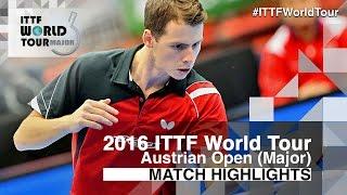 【Video】ZHOU Kai VS GROTH Jonathan, vòng 32 2016 Hybiome Austrian Open
