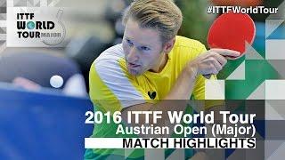 【Video】FEGERL Stefan VS FILUS Ruwen, vòng 32 2016 Hybiome Austrian Open