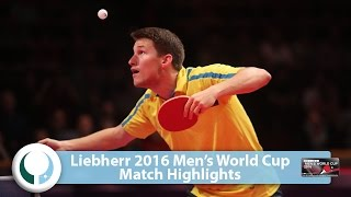 【Video】KARLSSON Kristian VS FENG Yijun World Cup của LIEBHERR 2016 Men