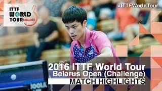 【Video】CHO Seungmin VS MILOVANOV Andrey 2016 Belarus mở