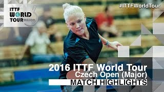 【Video】EKHOLM Matilda VS POTA Georgina, vòng 16 2016 Czech mở