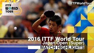 【Video】ZHANG Jike VS SAMSONOV Vladimir, tứ kết 2016 Laox Japan Open