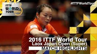 【Video】LIU Shiwen VS Tie Yana, tứ kết 2016 Laox Japan Open
