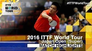 【Video】TSUBOI Gustavo VS FAN Zhendong, vòng 16 2016 Laox Japan Open