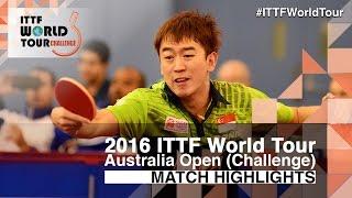 【Video】CHEN Feng VS LI Hu, bán kết 2016 Úc mở rộng
