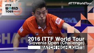 【Video】WONG Chun Ting VS CHEN Chien-An, vòng 16 2016 Slovenia Open