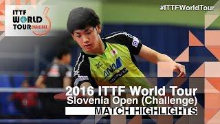 【Video】ALLEGRO Martin VS YUTO Muramatsu, vòng 64 2016 Slovenia Open