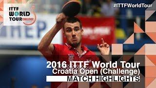 【Video】GROTH Jonathan VS PUCAR Tomislav, vòng 32 2016 Zagreb  mở rộng