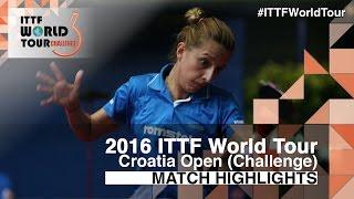 【Video】SAMARAElizabeta VS LIN Ye, vòng 32 2016 Zagreb  mở rộng