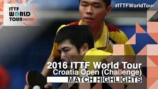 【Video】CHUANG Chih-Yuan・SUN Chia-Hung VS DUDA Benedikt・QIU Dang, vòng 32 2016 Zagreb  mở rộng