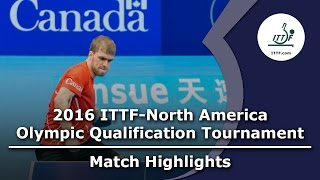 【Video】WANG Eugene VS THERIAULT Pierre-Luc, chung kết 2016 ITTF-Bắc Mỹ Olympic Qualification Tournament