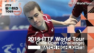 【Video】HACHARD Antoine VS GOMEZ Gustavo, bán kết 2016 Chile Open