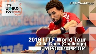 【Video】HACHARD Antoine VS PEREIRA Andy, tứ kết 2016 Chile Open