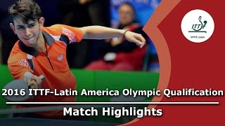 【Video】LAMADRID Juan VS AFANADOR Brian, bán kết 2016 ITTF-Mỹ Latinh Olympic Qualification Tournament