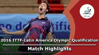 【Video】MADRID Marcos VS TSUBOI Gustavo, bán kết 2016 ITTF-Mỹ Latinh Olympic Qualification Tournament