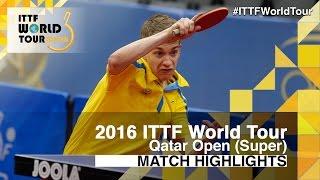 【Video】KALLBERG Anton VS ROBINOT Alexandre, tứ kết 2016 Qatar mở rộng