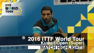 【Video】APOLONIA Tiago VS LASHIN El-Sayed, vòng 32 2016 Kuwait mở rộng