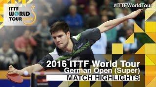 【Video】CHUANG Chih-Yuan VS OVTCHAROV Dimitrij, tứ kết 2016 Đức mở rộng