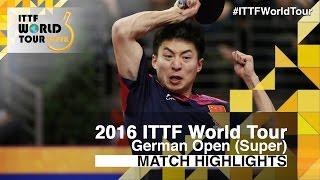 【Video】WANG Zengyi VS FANG Bo, vòng 16 2016 Đức mở rộng