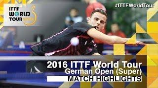 【Video】APOLONIA Tiago VS SAMSONOV Vladimir, vòng 32 2016 Đức mở rộng
