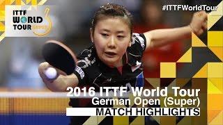 【Video】SHAN Xiaona VS AI Fukuhara, vòng 16 2016 Đức mở rộng