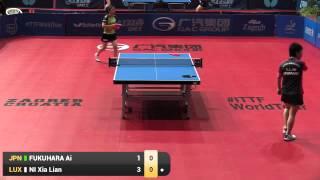 【Video】NI Xia Lian VS AI Fukuhara, vòng 32 2015  Zagreb  mở rộng