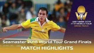 【Video】OSHIMA Yuya VS CALDERANO Hugo, vòng 16 Vòng chung kết World Tour 2018
