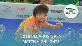 【Video】ZHAO Zihao VS PISTEJ Lubomir, bán kết Thử thách 2018 tại Belarus Mở