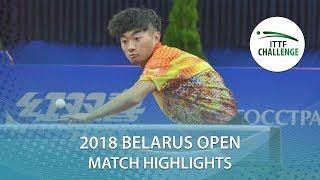 【Video】ZHAO Zihao VS IVONIN Denis, chung kết Thử thách 2018 tại Belarus Mở