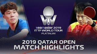 【Video】JANG Woojin VS LIN Gaoyuan, vòng 16 2019 Bạch kim Qatar mở