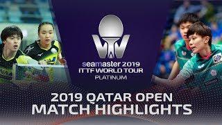 【Video】LIN Yun-Ju・CHENG I-Ching VS MASATAKA Morizono・MIMA Ito, bán kết 2019 Bạch kim Qatar mở
