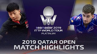【Video】MA Long VS FLORE Tristan, vòng 32 2019 Bạch kim Qatar mở