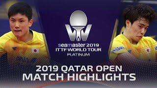 【Video】MASATAKA Morizono VS HARIMOTO Tomokazu, vòng 32 2019 Bạch kim Qatar mở