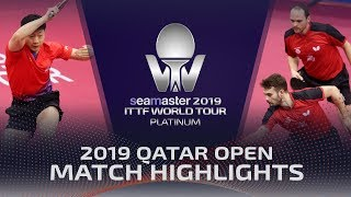 【Video】DRINKHALL Paul・WALKER Samuel VS LIN Gaoyuan・MA Long, vòng 16 2019 Bạch kim Qatar mở
