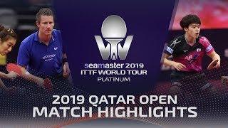 【Video】FILUS Ruwen・HAN Ying VS MASATAKA Morizono・MIMA Ito, vòng 16 2019 Bạch kim Qatar mở