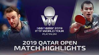 【Video】GAUZY Simon VS FEGERL Stefan, vòng 64 2019 Bạch kim Qatar mở